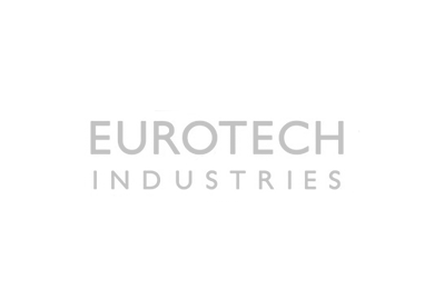 logo for eurotech industries in grey