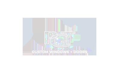 logo for PGT custom windows and doors