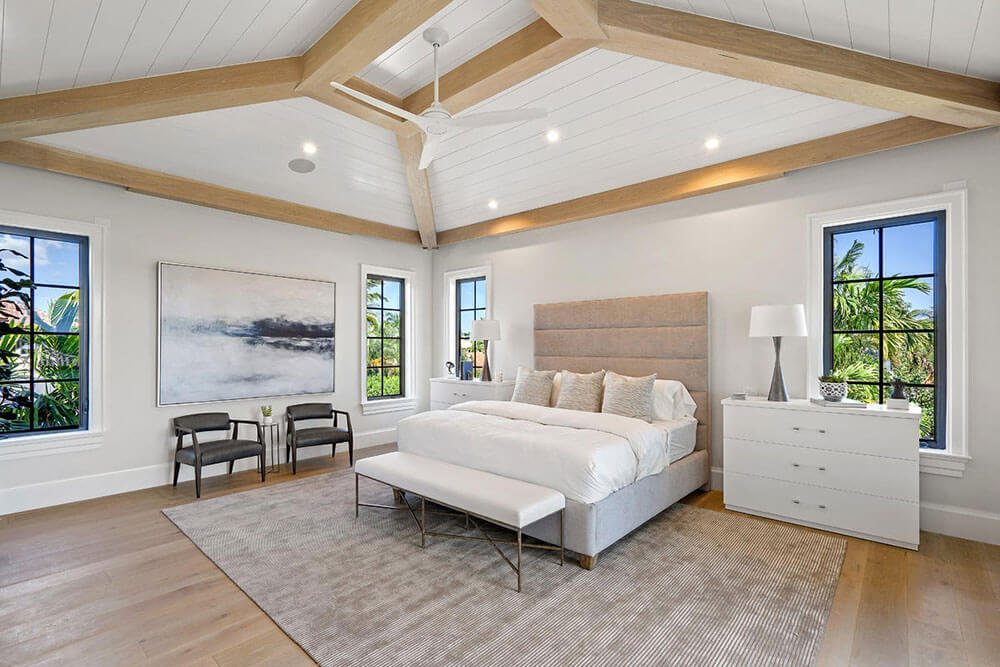custom hurricane windows in a South Florida bedroom