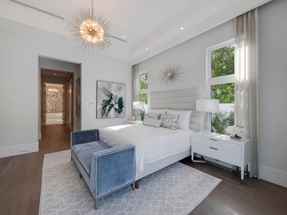 hurricane resistant windows in a South Florida bedroom