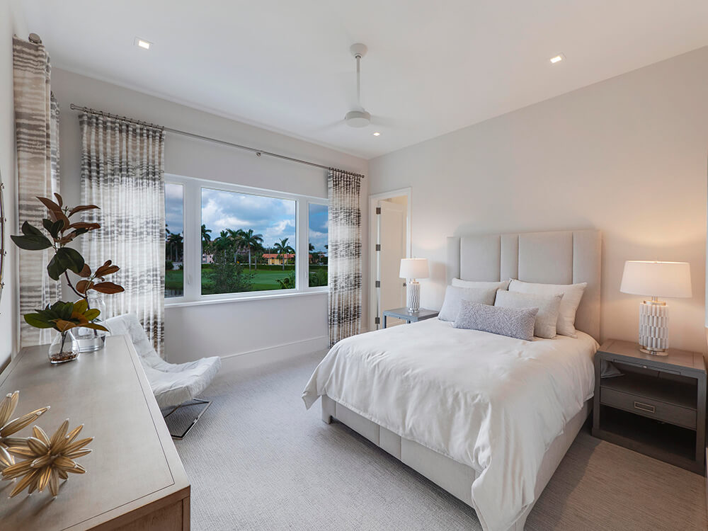 impact windows in a South Florida bedroom