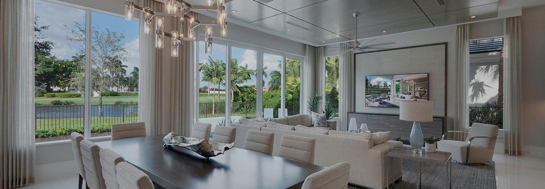 hurricane impact windows in a South Florida home
