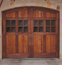 custom wood look garage doors