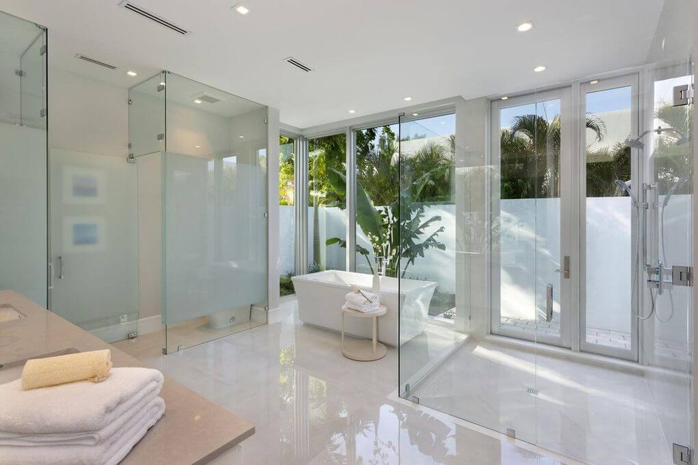 French Doors custom glass in South Florida