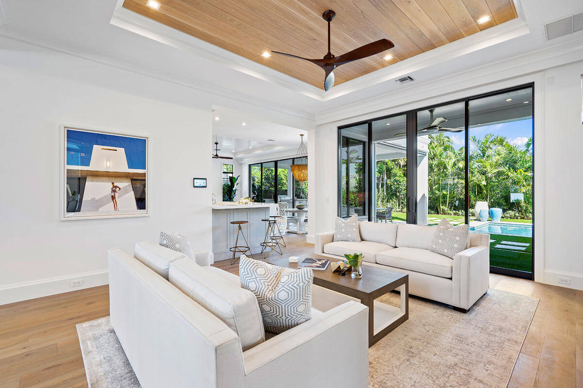 hurricane impact windows in a sitting room