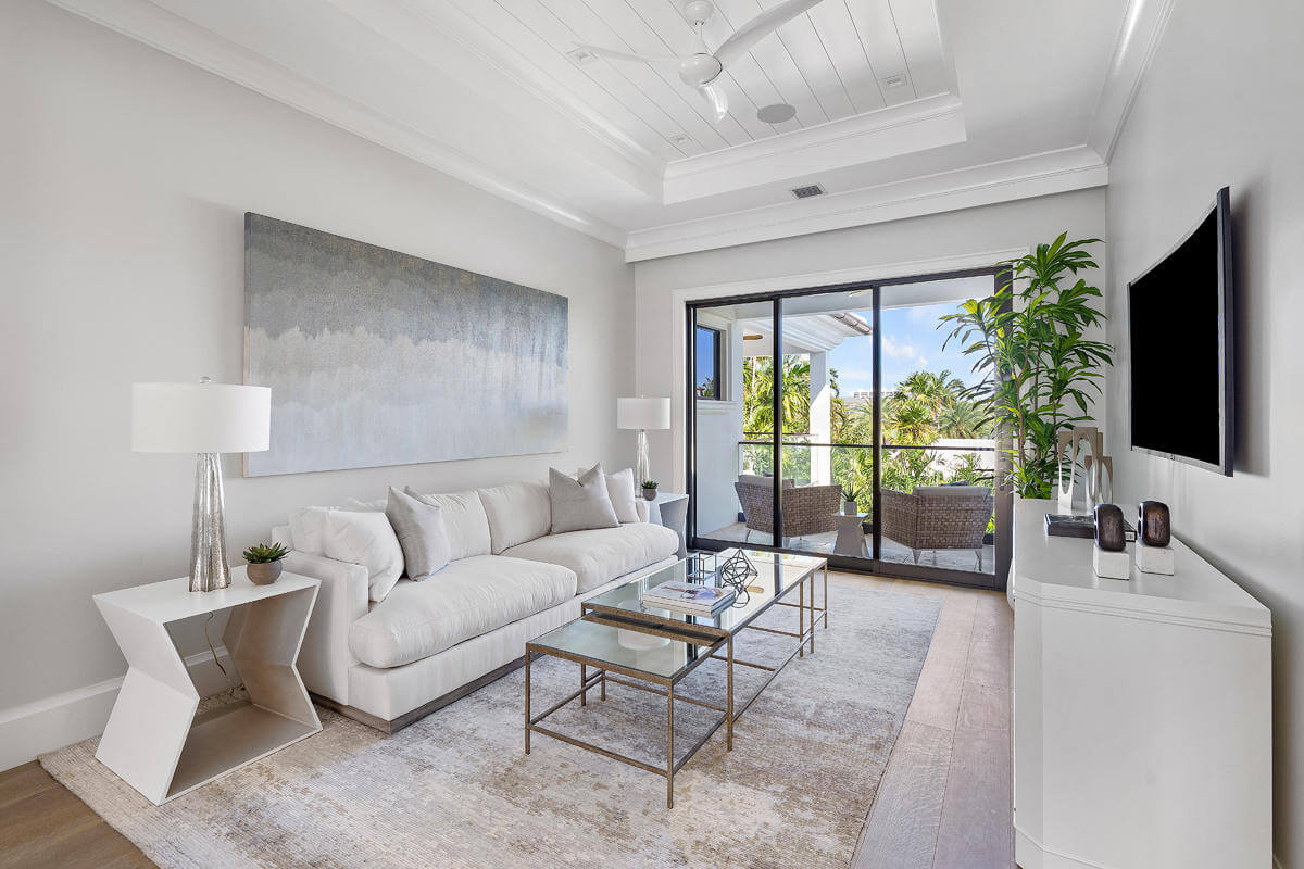 sliding glass doors in South Florida home