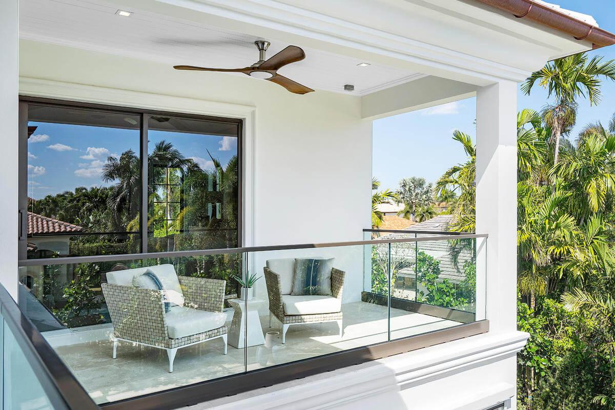 custom impact glass balcony railing