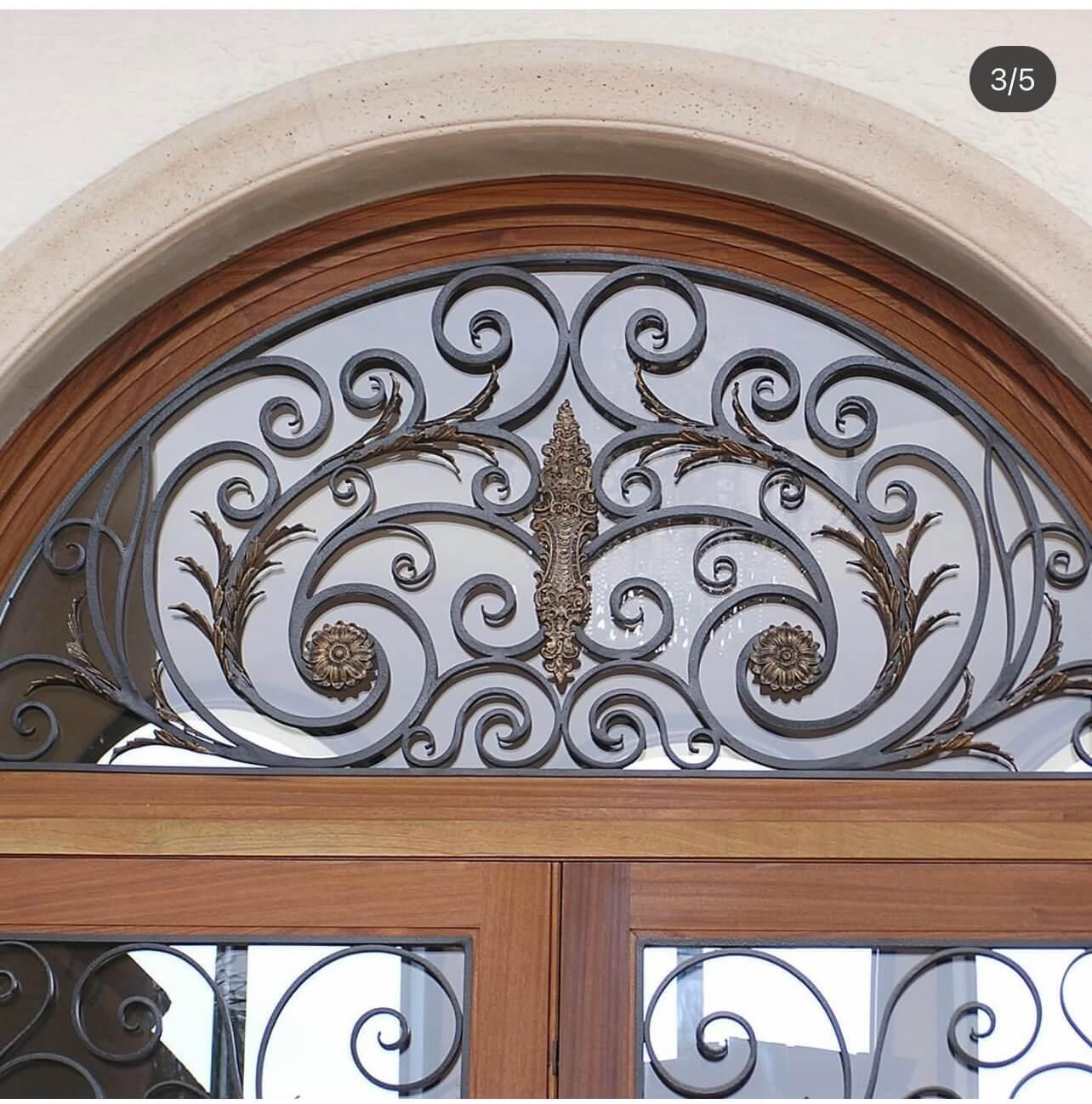 Ornamental Doors custom glass in South Florida