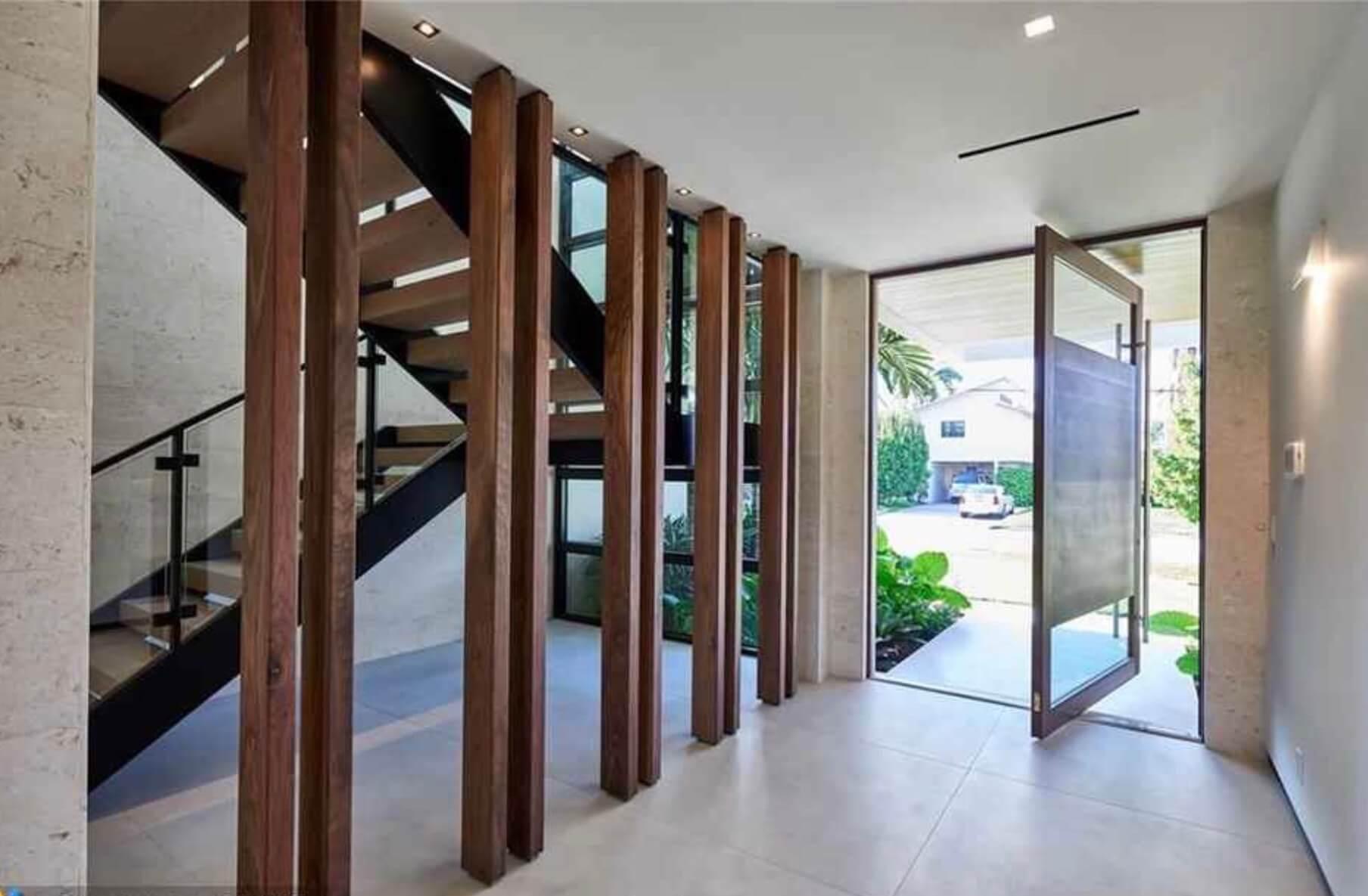 Pivot Doors custom glass in South Florida