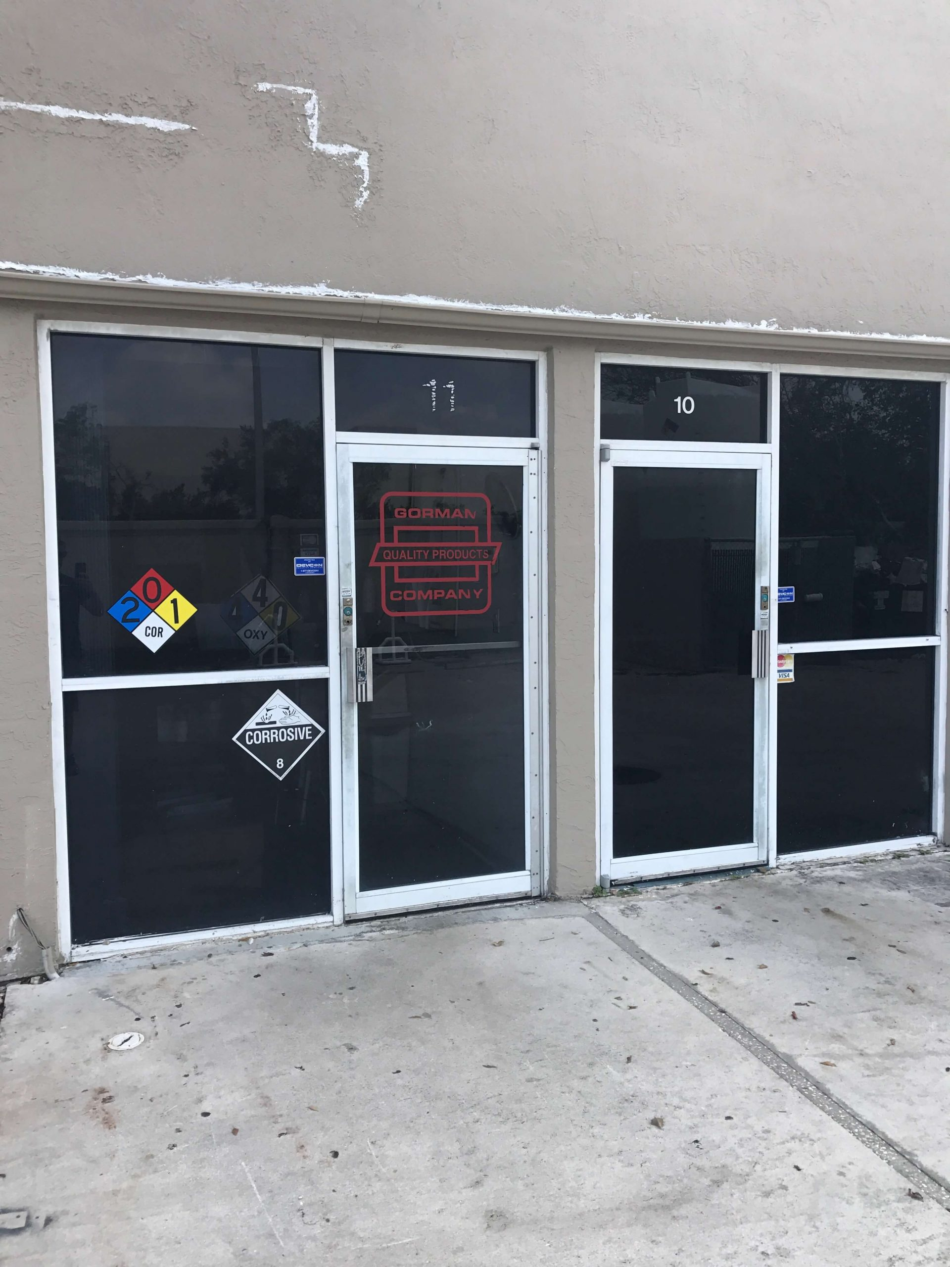 Commercial Doors custom glass in South Florida