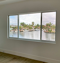 horizontal windows with water view