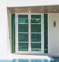 glass french front doors